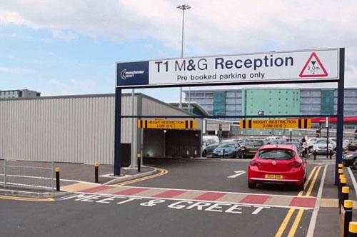 Nơi làm việc của Mirosla trong sân bay Manchester. Ảnh:Manchester Evening News.