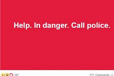 Dòng trạng thái mà cặp du khách đăng lên mạng xã hội giúp họ thoát nạn. Ảnh: Facebook.