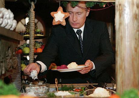 Tổng thống Putin thích ăn cá hơn thịt. Ảnh: Russia Beyond.