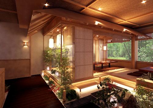 Bên cạnh đó, không gian nhà hàng thuần Nhật, ấm cúng, sang trọng mà gần gũi, mang lại trọn vẹn hương vị Nhật Bản cho thực khách.