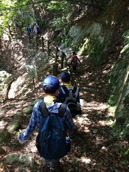 Đường trekking lên đỉnh núi tại khu cắm trại Ugakei, thành phố Inabe, tỉnh Mie. Ảnh: Hoài Nam.