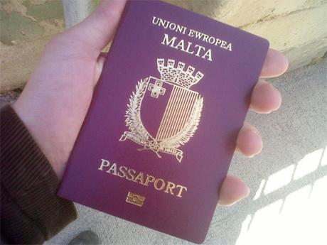 Hộ chiếu của Malta. Ảnh: Loving Malta.