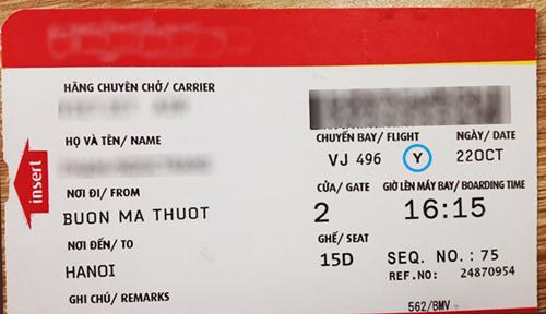 Ý nghĩa của những ký tự bí ẩn trên vé máy bay