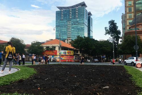 Miếng đất hoang giữa trung tâm thành phố. Ảnh: NVCC.