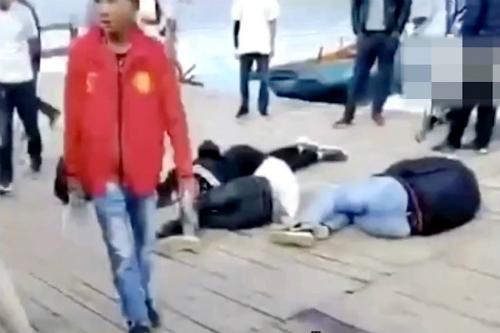 Khách Trung Quốc bị đánh vì ném vỏ hạt dưa xuống hồ - ảnh 1