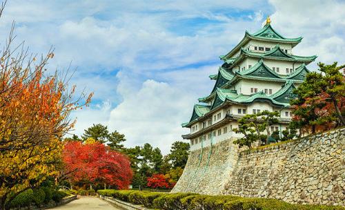 Mùa thu trên Osaka rực rỡ sắc đỏ của lá phong. Ảnh: Tugo.