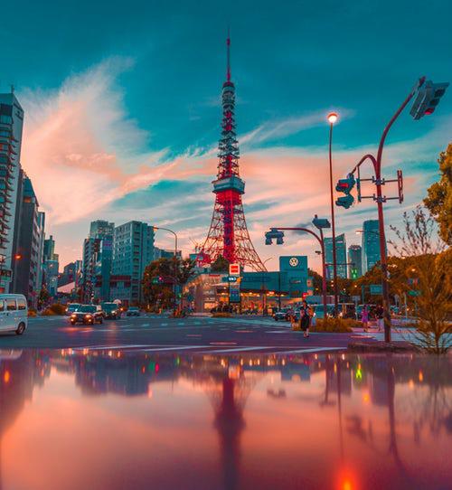 Tokyo vào ban đêm. Ảnh: Tugo.