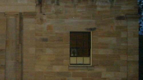 Pete khẳng định anh có một bức ảnh chụp được gương mặt của thẩm phánThomas Brown trên cửa sổ tòa án ởHartley. Ảnh:Paranormal Pete.