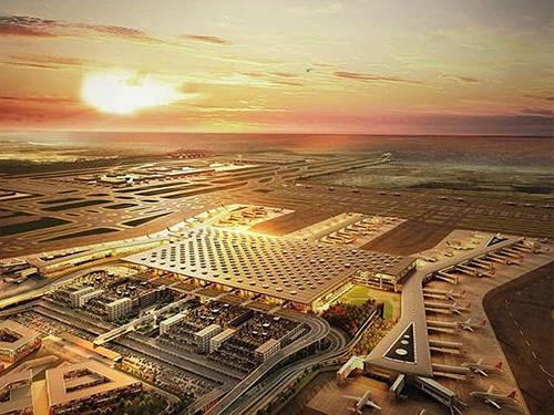 Tayyip Erdogan, tổng thống Thổ Nhĩ Kỳ, vừa giới thiệu về sân bay lớn  nhất thế giới, nằm ngoài thủ đô Istanbul của nước này. Tổng chi phí xây  dựng lên tới 11,7 tỷ USD. Sân bay sẽ đi vào hoạt động toàn thời gian từ  tháng 1/2019.