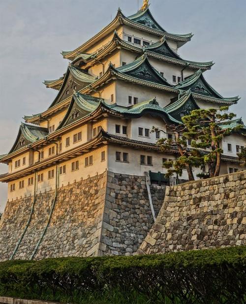 Lâu đài Nagoya mùa thu. Ảnh: pinterest.