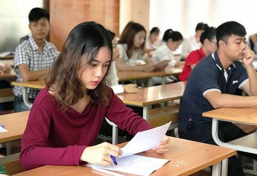 Các thí sinh thi hướng dẫn viên giỏi và xếp hạng làm bài thi trắc nghiệm ở vòng sơ khảo. Ảnh: Minh Cương.