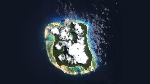 Đảo Bắc Sentinel nhìn từ trên cao.