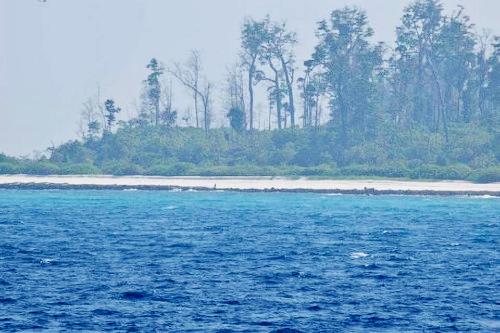 Đảo Bắc Sentinel vào ngày 22 tháng 11 năm 2018. Ảnh: Cảnh sát Andaman và Nicobar.