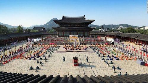 Cung điện Gyeongbokgung - nơi lưu giữ lịch sử của Hàn Quốc. Ảnh: Pinterest.
