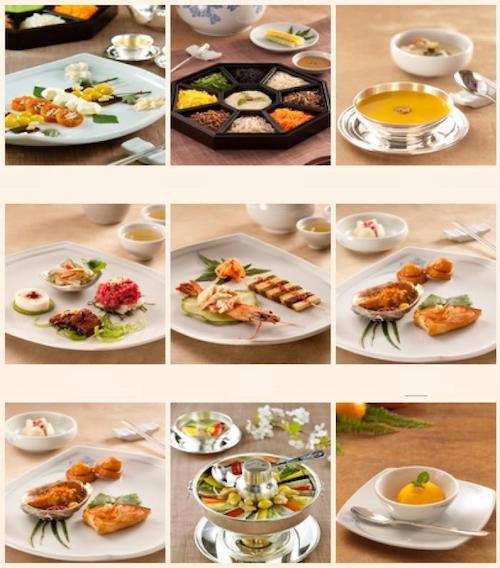 Thực đơn nhà hàng Jihwaja trong hệ thống Fine Dining Restaurant. Ảnh: Koreanetwork.