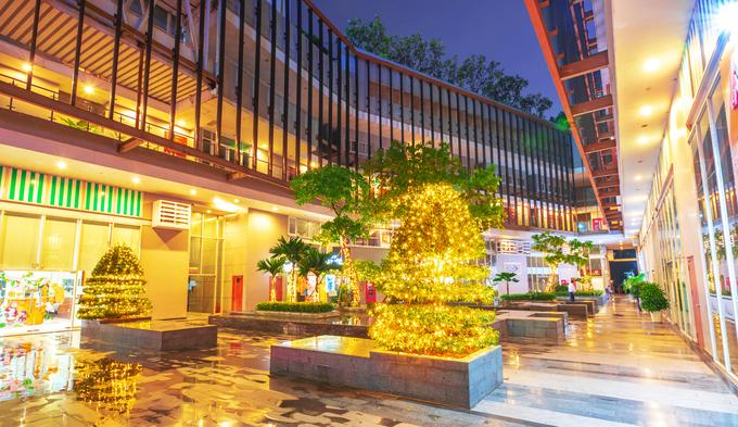 Khu đô thị ở Nam Sài Gòn lung linh đèn đón Giáng sinh