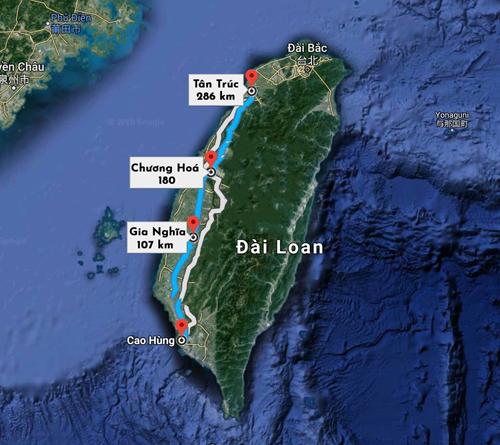 Các địa điểm phát hiện ra 3 người Việt Nam.