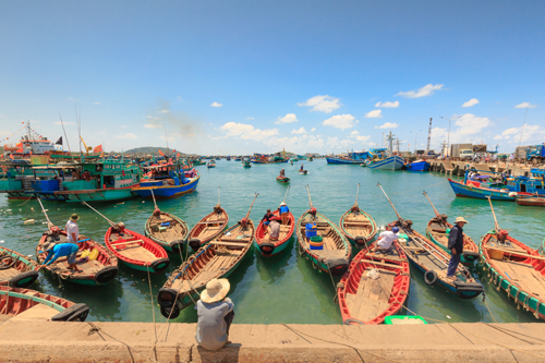 Thưởng thức hải sản đánh bắt và chế biến tươiNói đến Phú Quốc không thể không nhắc đến những món hải sản tuy bình dân nhưng ngon và lạ miệng như gỏi cá trích, ốc vôi, ốc vú nàng, nhum biển, cá sòng... Làng chài Hàm Ninh là một trong những địa điểm lý tưởng để thưởng thức những món ngon của biển cả với giá phải chăng, không gian thoáng đãng và đậm tính địa phương. Khó có ai có thể từ chối uống ngụm bia lạnh nóng nực giữa một buổi trưa, rồi cắn thử một cuốn gỏi cá trích với bánh tráng, thịt cá dai ngọt và rau rừng cùng thứ nước chấm đặc biệt.