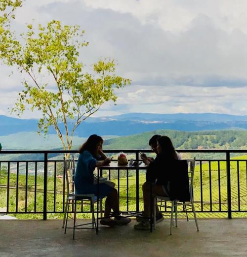 Cà phê Mê LinhVới không gian mở độc đáo và mới lạ, cà phê Mê Linh để lại ấn tượng sâu sắc cho du khách với tầm nhìn360 độ ngắmĐà Lạt từ trên cao. Thưởng thức vị cà phê Đà Lạt thơm nồng, nghe tiếng gió thổi trên cao, ngắm nhìn không gian ngát xanh bên dưới... là những trải nghiệm khiến bạn chẳng thể nào quên. Ảnh:Huyền Phạm.