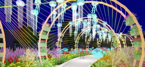 Du khách sẽ được hòa vào không khí Tết rộn rã, rực rỡ sắc hoa của Sun World Halong Complex.