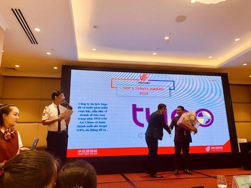Lễ trao danh hiệu top 1 công ty có doanh số cao nhất của hãng hàng không Trung Quốc.