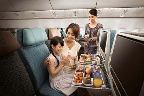Các tiện ích ấn tượng của hãng hàng không quốc gia Singapore.