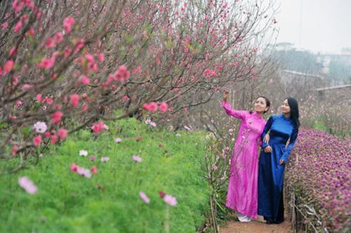 Dịp Tết, người dân Hà Nội dành nhiều thời gian đi chơi, chụp ảnh. Ảnh: Gtrider.