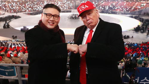Những du khách thích đóng giả Trump - Kim