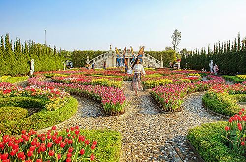 Vườn hoa quy tụ 1 triệu bông tulip.