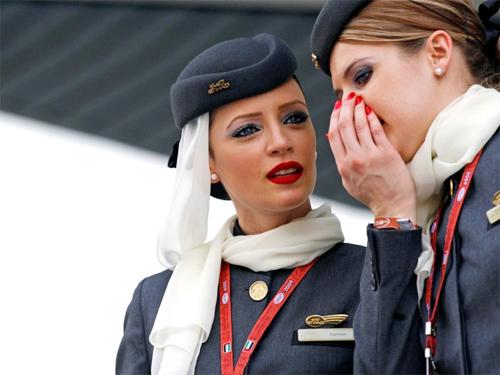 Tiếp viên hàng không có một số từ bí mật giao tiếp với nhau. Ảnh: News.