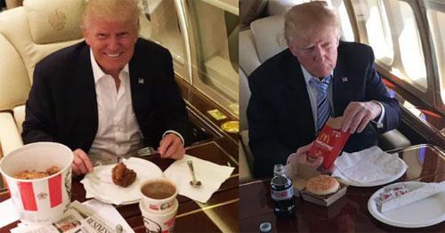 Tổng thống rất thích đồ ăn nhanh. Ảnh: iNews.