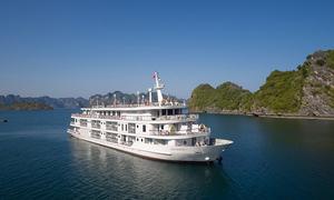 Du thuyền 5 sao đưa đoàn cấp cao Triều Tiên thăm vịnh Hạ Long