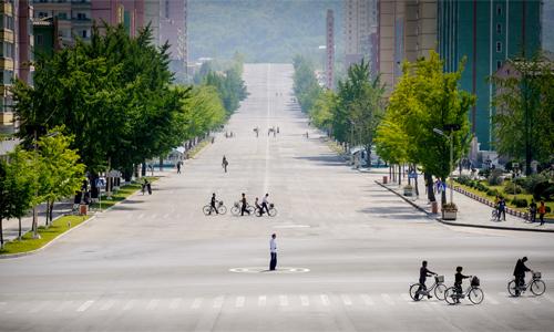 Thành phố Kaesong ở phía nam Triều Tiên. Ảnh: Ngô Quang Minh.
