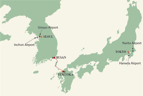 Lịch trình tour liên tuyến Hàn - Nhật 6 ngày 6 đêm của Tugo. Ảnh: Tugo.