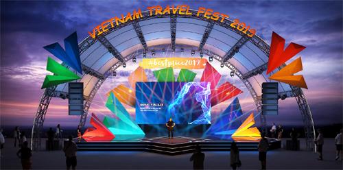 Phối cảnh sân khấu của Travel Fest 2019.