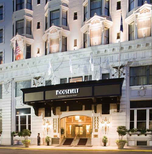 Khách sạn mở cửa vào năm 1893, được đặt theo tên ông Louis Grunewald, chủ sở hữu đầu tiên. Nó trở thành Roosevelt vào năm 1923. Khách sạn sở hữu hai quán bar huyền thoại Blue Room và Sazerac Bar. Những huyền thoại âm nhạc như Louis Armstrong, Cab Calloway, Ray Charles và Jack Benny từng biểu diễn tại đây. Ảnh: Waldorf Astoria.