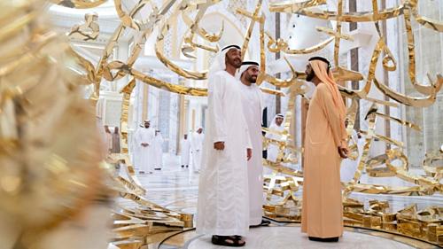 Trong buổi lễ khánh thành vào đầu tháng 3, ngoài quốc vương Dubai còn có sự xuất hiện của thái tử Abu Dhabi và phó tổng thống của các tiểu vương quốc. Ảnh: CNN.