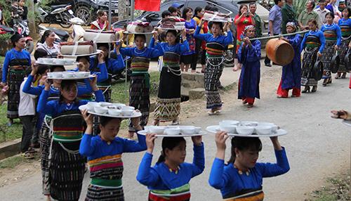 Lễ hội Mường Xia - một lễ hội truyền thống độc đáo mang đậm bản sắc của người Thái ở huyện biên giới Quan Sơn vừa diễn ra ngày 15/3. Ảnh: Lê Hoàng.