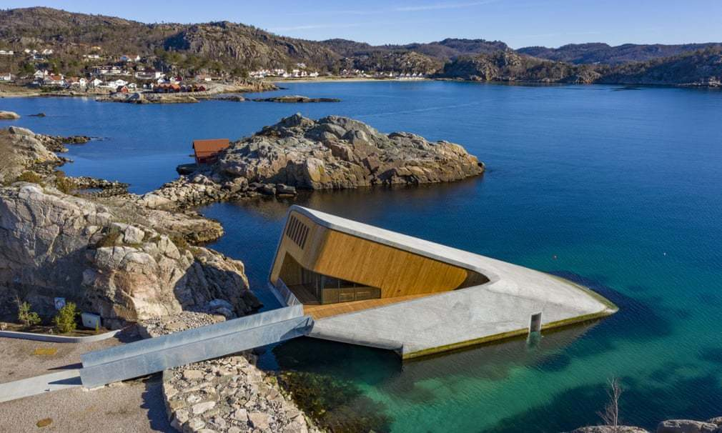 Bên trong nhà hàng dưới nước đầu tiên ở châu Âu