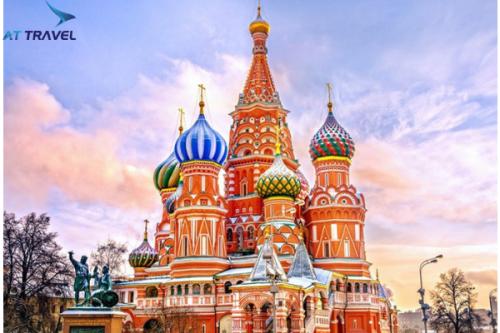Nước Nga có những công trình kiến trúc cổ kính.