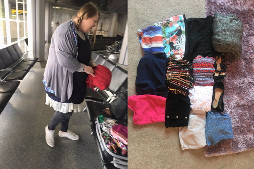 Quá cân hành lý, khách nữ mặc một lúc 7 chiếc váy lên máy bay