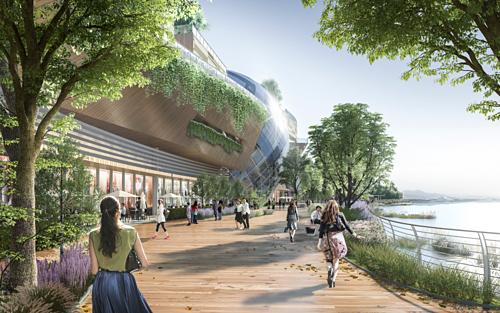Không gian xanh mở rộng biến khu vực waterfront thành một điểm đến vui chơi giải trí cao cấp với các hoạt động sôi nổidành cho cả khách du lịch và người dân địa phương.