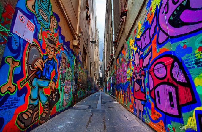 Những con ngõ vẽ tranh tường độc đáo ở Melbourne
