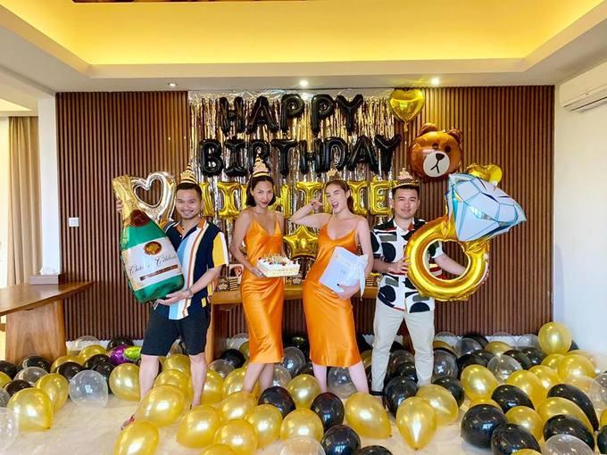 Kỳ Duyên du lịch Bali, mừng sinh nhật siêu mẫu Minh Triệu