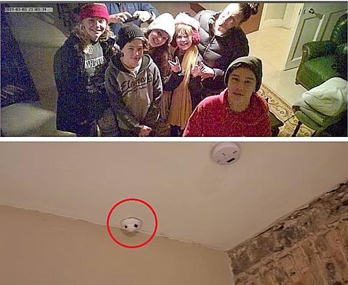 Nhà Barker phát hiện máy quay lén trong thiết bị báo cháy. Ảnh: CNN.