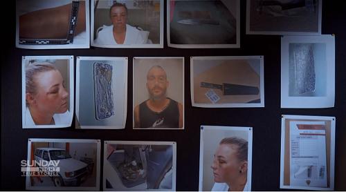 Những bức ảnh ghi lại thương tích của Elisha và tang vật cảnh sát thu giữ của Marcus. Ảnh: Sunday Night.