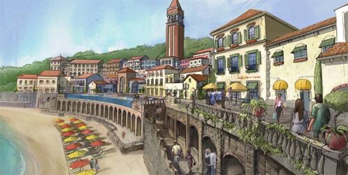 Khu Central Village với những mảng tường cổ đầy nghệ thuật (Ảnh phối cảnh)