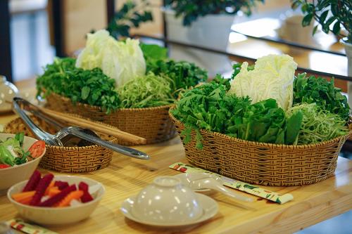 Nhiều loại rau xanh đặc trưng từ Đà Lạt.