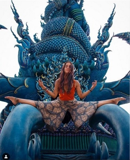 Levin chụp tại Đền Xanh ở Chiang Rai. Hiện bức ảnh không còn hiển thị trêntrang cá nhân của blogger này. Ảnh:Andreita Levin.