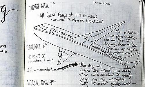 Viết nhật ký cũng là một trong những phương thức giúp bạn thư giãn trên máy bay. Một cuốn sổ nhỏ với một cây viết là bạn đã có thể
